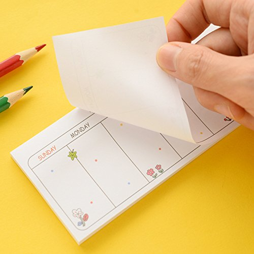 Sticky Notes BookMark Pads Set of 6 Colorful - 9