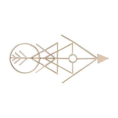 (Kate and Laurel Benta Modern Arrow Metal Wall Art Plaque, Gold )