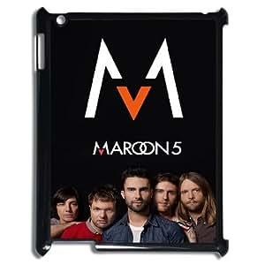 Diy maroon 5 Cover Case, DIY Hard Back Phone Case for iPad2,iPad3,iPad4 maroon 5