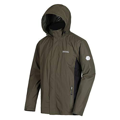 (Regatta Mens Waterproof Jacket Khaki Medium )