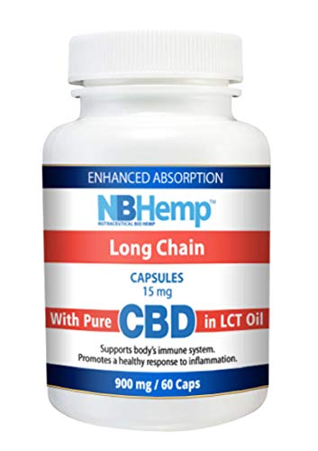 Oil Capsules (60) Hemp Oil Capsules 900 mg, Support Immune System, Pain Anxiety Relief, Organic, Non GMO ()