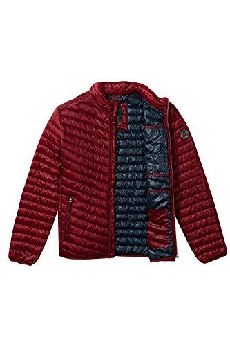 JP 1880 Herren große Größen bis 7 XL | Steppjacke in grau & blau | Jacke in Leichtstepp mit Stehkragen, Reißverschluss & 3 Taschen | Regular Fit | dunkelrot L 706856 50-L