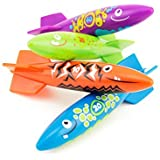 Adorox Torpedo Rocket Under Water Swimming Pool Dive Splash Toys Aqua Fun Glide Games