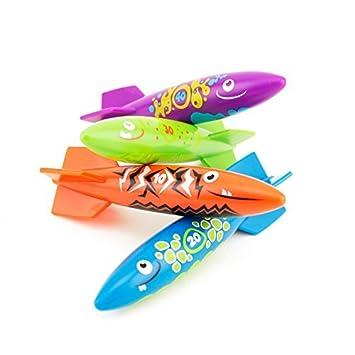 Adorox Torpedo Rocket Under Water Swimming Pool Dive Splash Toys Aqua Fun Glide Games