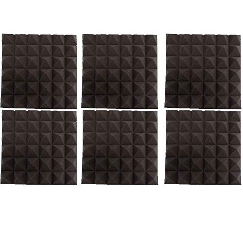 Mybecca 6 pack Soundproofing Acoustic Panels Studio Foam Wedges 2