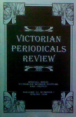Victorian Periodicals Review (Volume 31, Number 1) ()