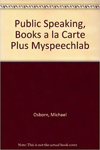 public speaking books a la carte plus myspeechlab 8th edition