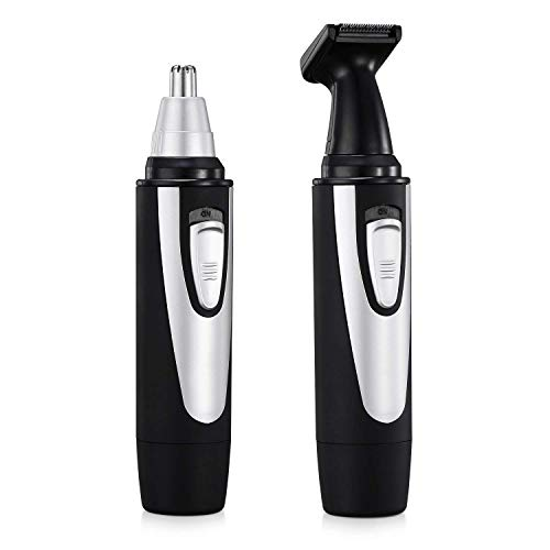 Ear Nose Hair Trimmer, Vansky 2018 Upgraded Nostril Ear Sideburns Facial Hair Clipper Removal for Men Women w/Waterproof Double-Edge Stainless Steel Blades,Wet/Dry Use,Battery-Operated Trimming Tool by Vansky (Image #5)