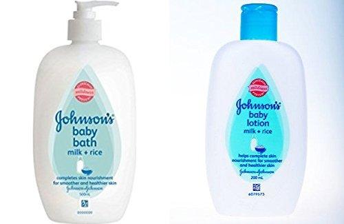Johnson's Baby Bath Milk And Rice 500 ML+ 200 ML Combo Pack (Johnson And Johnson Milk And Rice compare prices)