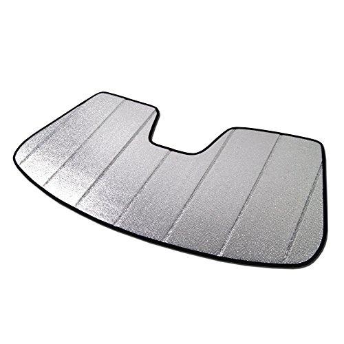 (TuningPros SS-024 Custom Fit Car Windshield Sun Shade Protector, Sunshade Visor Silver & Grey 1-pc Set Compatible With 2012-2017 BMW 6 Series )