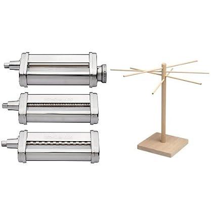 b2d6834efa655 Amazon.com  KitchenAid KSMPRA 3 Piece Pasta Roller   Cutter Attachment Set