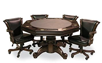 Executive Game Table Set (with 4 Chairs) (Mahogany)