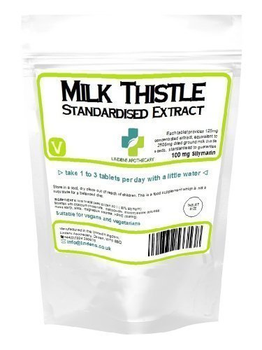 Milk Thistle Liver Tablets x 120 , Skin & Liver Detox, Kidney, Skin, Hangover, 2500mg eq providing 100g Silymarin