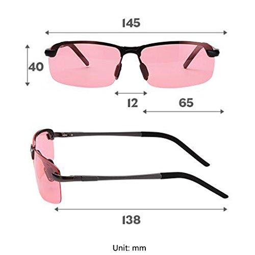 Couleur Femmes de Polarisées Vision Night Driver Mirror Pêche Hommes Soleil Goggles de Lunettes Noir Soleil Lunettes de Lunettes Noir gAqaxw