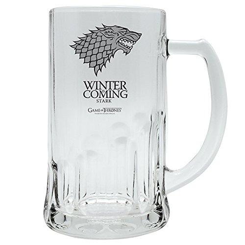 GAME OF THRONES Glass Tankard Stark by AbyStyle