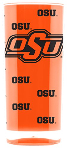 Duck House NCAA Oklahoma State Cowboys 16oz Insulated Acrylic Square Tumbler (Oklahoma State Square)