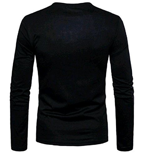 Manica Lunga Grigia Camo Degli Camicia Stampa Uomini Henley Pullover Energymen EBfqw1wA5x