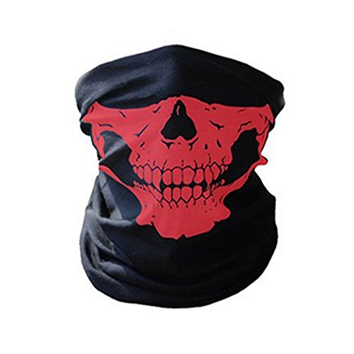 CALOFE Seamless Skull Print Face Mask Bandanas for Dust, Halloween, Riding, Outdoors (Print A Halloween Mask)
