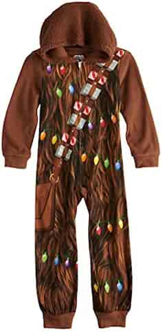 ed1da0af Star Wars Boys Chewbacca Costume Union Suit Hooded Blanket Sleeper Pajamas