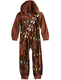Star Wars Boys Chewbacca Costume Union Suit Hooded Blanket Sleeper Pajamas 37744e9d0