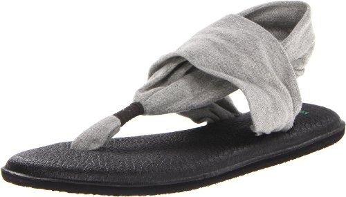 Sanuk Women's Yoga Sling 2 Sandal, Grey, 10 M US (Vegas World Las Mart)