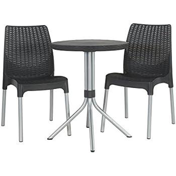 Amazon.com: Keter Chelsea 3-Piece Resin Outdoor Patio Furniture ...