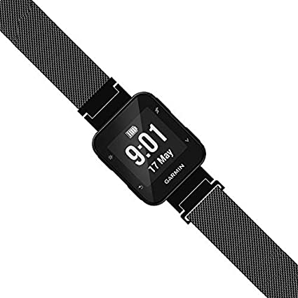LeiOu Steel Mesh Strap Compatible with Garmin Forerunner 35 Band