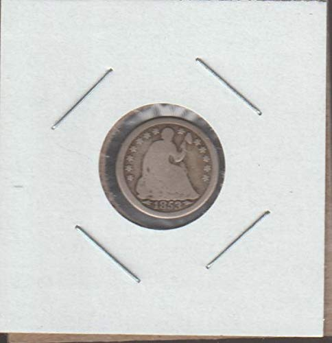 1853 Dime Arrows - 1853 Liberty Seated (1837-1873) (with arrows) Half Dime Good -