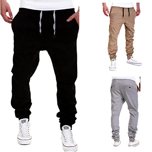 GBSELL-Mens-Chinos-Casual-Drawstring-Waistband-Trousers-Haren
