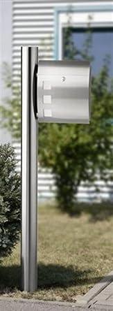 Edelstahl Briefkastensaule Briefkastensaule 33 Ohne Briefkasten Amazon De Beleuchtung