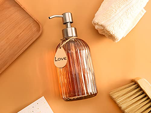 Soap Dispenser with Non-Slip Silicone Pad – Premium Quality – Dish and Hand Soap Dispenser – Rust Proof Stainless Steel Pump – Ideal for Kitchen Dish Soap, Bathroom Soap