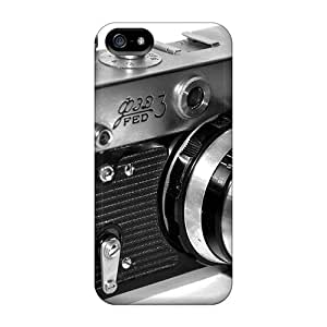 Rugged Skin Case Cover For Iphone 5/5s- Eco-friendly Packaging(fed Rangefinder Camera)