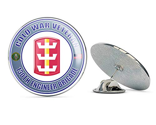 U.S. Army Cold War 130th Engineer Brigade Veteran Metal 0.75