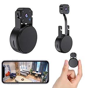 Flashandfocus.com 41HHr020UvL._SS300_ 2021 FECOMI 2K Super Mini Spy Camera Hidden WiFi Cam,Separation of lens and body, Wireless Nanny Cam with Video & Audio…