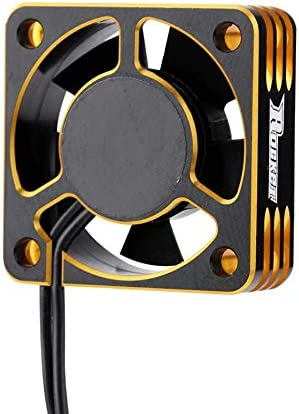Yiwa SURPASS HOBBY Metal Motor Cooling Fan RC Car Accessory 28000RPM Heat Dissipation Cooling Fan for 540 Brushless Motor Small size red