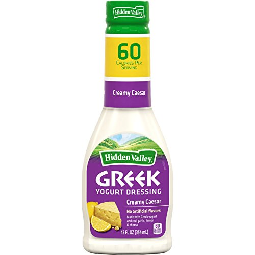 Hidden Valley Greek Yogurt Creamy Caesar Salad Dressing & Topping, Gluten Free - 12 Ounce (Easy Caesar Salad Dressing)