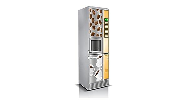 Vinilo para Frigorífico Cafe Cafeteria Varias Medidas 185x60cm | Adhesivo Resistente y de Facil Aplicación | Pegatina Adhesiva Decorativa de Diseño ...