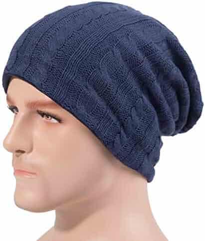 47d0969859b6 BOMEIMIN Mens Slouchy Beanie Knit Cap for Winter Unisex Knit Hat Skull Cap