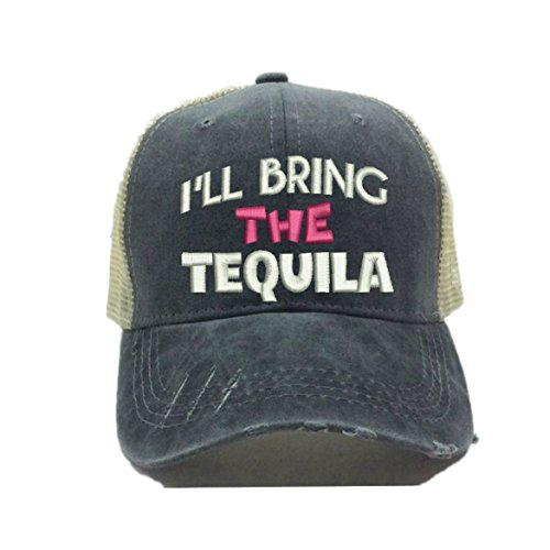 Hot Tequila - Adult Custom Distressed Funny Party Trucker Hat