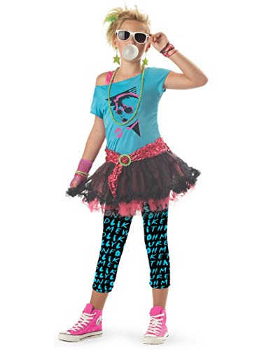 80's Valley Girl Child Costume, Blue, Medium (Eighties Costumes For Girls)