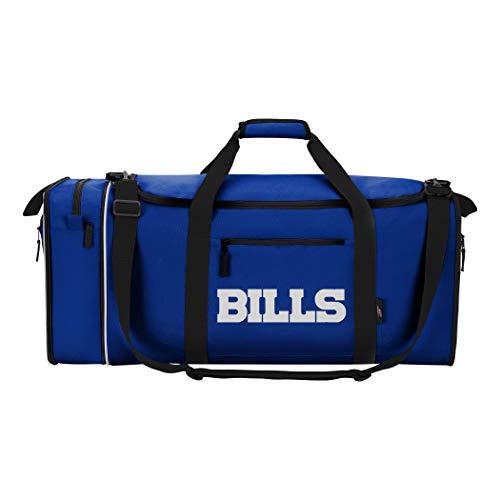 - NFL Buffalo Bills NFL Steal Duffel, Navy, Measures 28