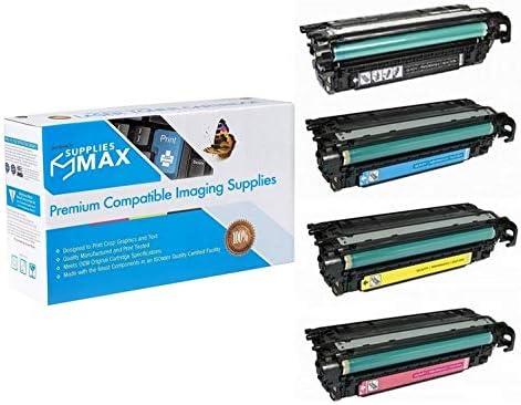 SuppliesMAX Compatible Replacement for HP Laserjet Enterprise 600 M675//M680DN//M680F//M680Z Toner Cartridge Combo Pack NO. 653X//NO. 653A BK//C//M//Y CF32XMP