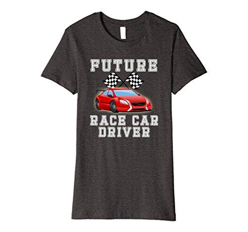 Female Race Car Driver Costumes (Womens Future Race Car Driver Costume T-Shirt for Adults and Kids Medium Dark Heather)