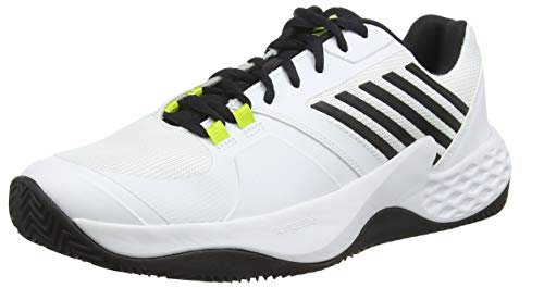 K-Swiss Performance Herren Aero Court HB Tennisschuhe, Weiß (White/Black/Neon Yellow 124M), 44.5 EU