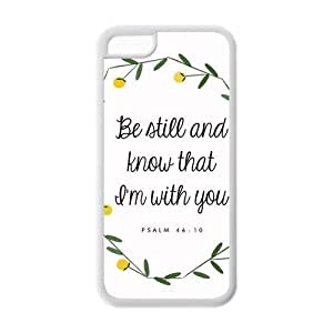 MMZ DIY PHONE CASEdiycover iphone 6 4.7 inch Case - Christian Theme - Psalm 46:10 - Best Durable Cover Case