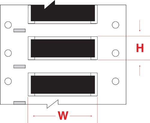 "UPC 662820820437, Brady 2HX-094-2-BK PermaSleeve Wire Marking Sleeves, 0.197"" Height, 1.969"" Width, Polyolefin (B-7642) Black (Roll of 2500)"