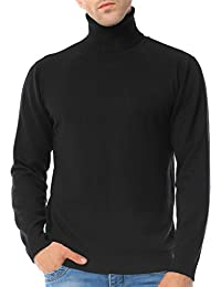 Men's Basic Turtleneck Pullover Solid Sweater