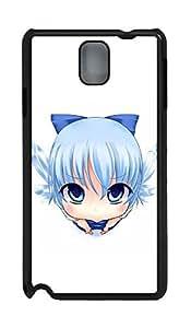 Samsung Note 3 Case Cute Blue Cartoon Girl PC Custom Samsung Note 3 Case Cover Black