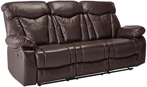 Coaster Home Furnishings Motion Sofa in Dark Brown