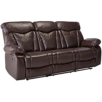 Amazon Coaster Zimmerman Casual Dark Brown Reclining Sofa With Best Zimmermans Furniture Model